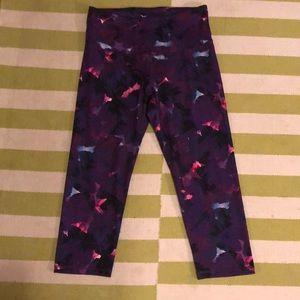 Old Navy Active purple print Go Dry pants sz L